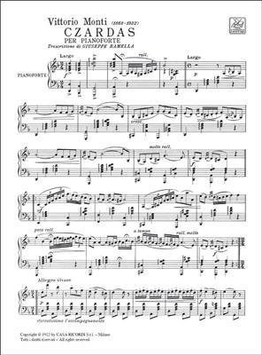 V. Monti: Czardas N.1: Piano