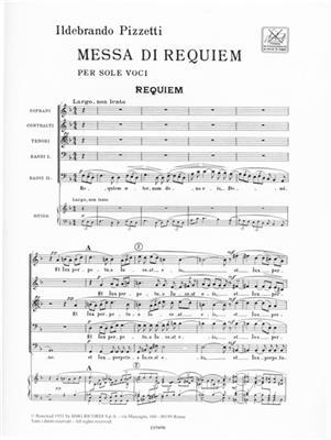 Ildebrando Pizzetti: Messa di Requiem: SATB