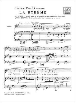 Giacomo Puccini: La Boheme: O Soave Fanciulla: Opera