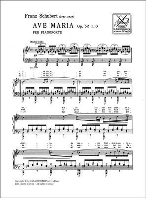 Franz Schubert: Ave Maria Op. 52 N. 6 D. 839: Piano