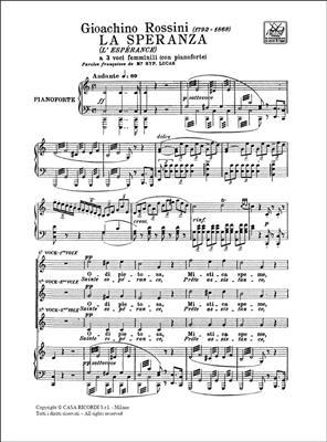 Gioachino Rossini: La Speranza: SSA