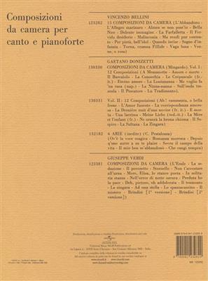 Vincenzo Bellini: 15 Composizioni Da Camera: Soprano