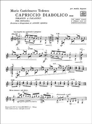 Mario Castelnuovo-Tedesco: Capriccio Diabolico (Omaggio A Paganini): Guitar or Lute