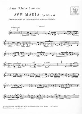 Franz Schubert: Ave Maria Op. 52 N. 6 D. 839: Violin