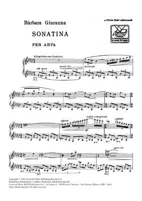 Elena Barbara Giuranna: Sonatina: Harp