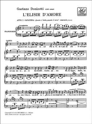 Gaetano Donizetti: L'Elisir D'Amore: Quanto E' Bella, Quanto E' Cara: Opera