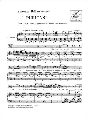 Vincenzo Bellini: I Puritani: Ah Per Sempre Io Ti Perdei: Opera