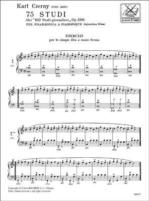 Carl Czerny: 75 Studi (Dai '100 Studi Giornalieri Op.599'): Accordion