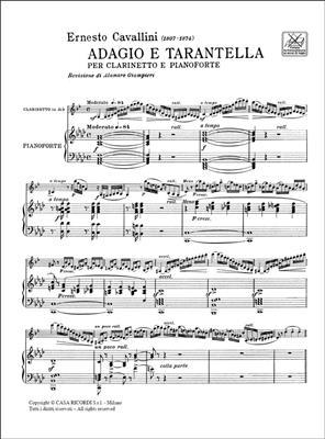 Ernesto Cavallini: Adagio E Tarantella: Clarinet