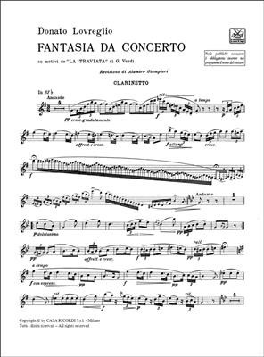 Giuseppe Verdi: Fantasia da concerto su motivi della Traviata: Clarinet