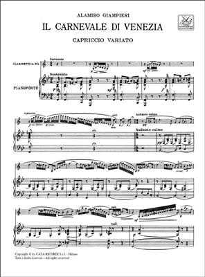 Alamiro Giampieri: Il Carnevale di Venezia: Clarinet