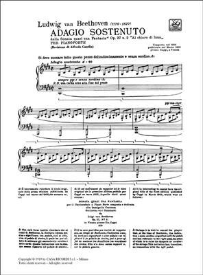 Ludwig van Beethoven: Adagio Sostenuto: Piano