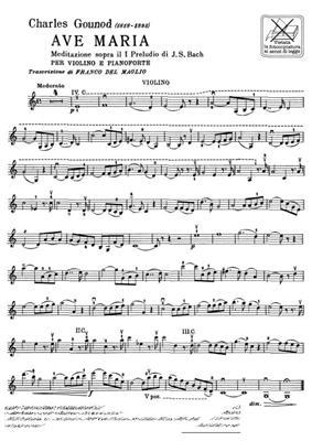 Charles Gounod: Ave Maria. Meditazione Sul I Preludio Di J. S.: Violin