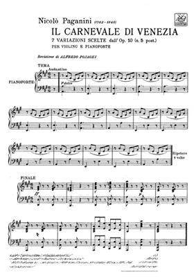 Niccolò Paganini: Il Carnevale Di Venezia: Violin