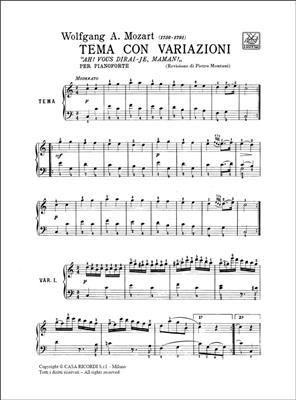 Wolfgang Amadeus Mozart: 12 Variazioni In Do Su 'Ah! Vous Dirai - : Piano