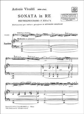 Antonio Vivaldi: Sonata in Re Rv 10 per Violino e pianoforte: Violin