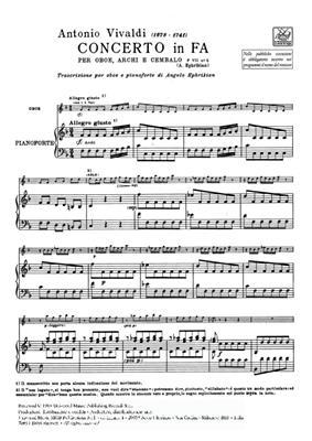 Antonio Vivaldi: Concerto per Oboe, Archi e BC: in Fa Rv 455: Oboe Duet