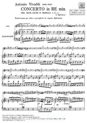 Antonio Vivaldi: Concerto In D Minor: Oboe Duet