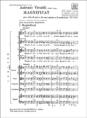 Antonio Vivaldi: Magnificat Rv 610a-611: Mixed Choir