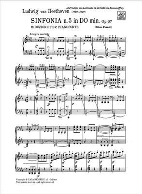Ludwig van Beethoven: Sinfonia N. 5 In Do Minore, Op. 67: Piano