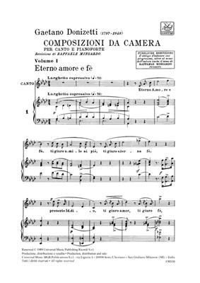 Gaetano Donizetti: Composizioni Da Camera Volume I: Soprano
