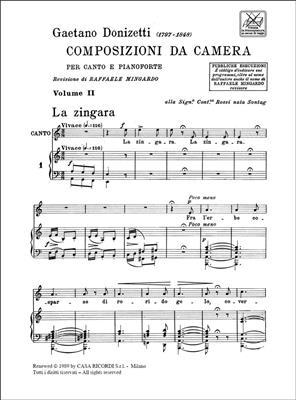 Gaetano Donizetti: 12 Composizioni Da Camera - Volume II: Voice