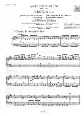 Antonio Vivaldi: Gloria RV 589: Mixed Choir