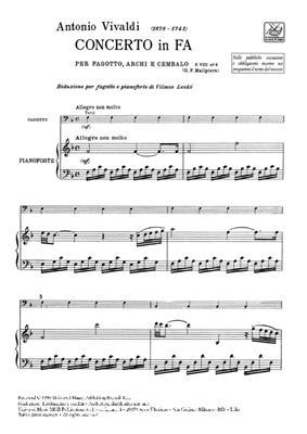 Concerto per Fagotto, Archi e BC in Fa Rv 485