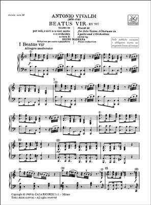 Antonio Vivaldi: Beatus Vir. Salmo 111, Rv 597: Mixed Choir