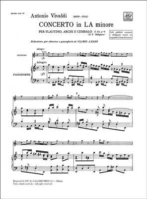 Antonio Vivaldi: Concerto in la minore per flautino Rv 445: Ottavino