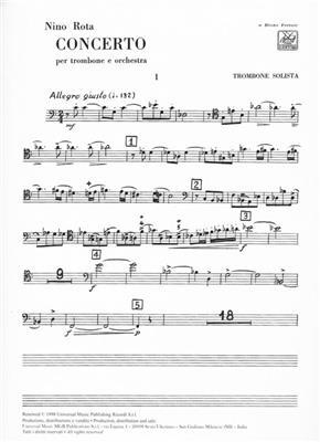 Nino Rota: Concerto per Trombone e Orchestra: Trombone or Tuba