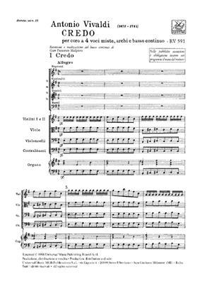 Antonio Vivaldi: Credo Rv 591: Mixed Choir