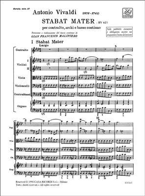 Antonio Vivaldi: Stabat Mater Rv 621: Orchestra