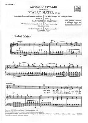 Antonio Vivaldi: Stabat Mater RV 621: Countertenor