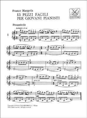 Franco Margola: 15 Pezzi Facili Per Giovani Pianisti: Piano