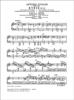 Antonio Vivaldi: Kyrie Rv 587: Vocal