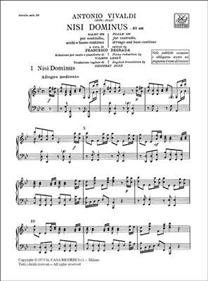 Antonio Vivaldi: Nisi Dominus RV 608: Countertenor
