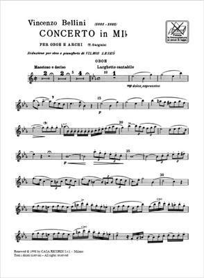 Vincenzo Bellini: Concerto In Mi Bemolle Per Oboe E Archi: Oboe