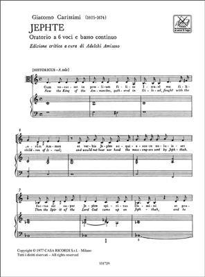Giacomo Carissimi: Jephte. Oratorio A 6 Voci E B.C.: Mixed Choir