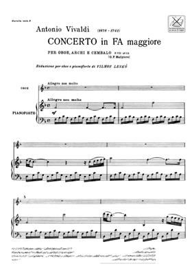 Antonio Vivaldi: Concerto per Oboe, Archi e BC: In Fa RV 457: Oboe Duet