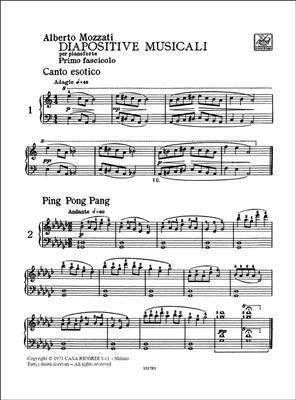 Alberto Mozzati: Diapositive Musicali. Fascicolo I: Piano or Keyboard