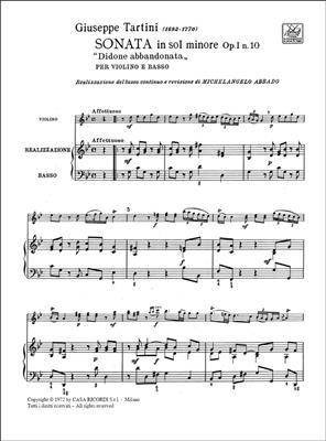 Giuseppe Tartini: Didone Abbandonata. Sonata: Violin