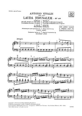Antonio Vivaldi: Lauda Jerusalem Salmo 147 Rv 609: SATB