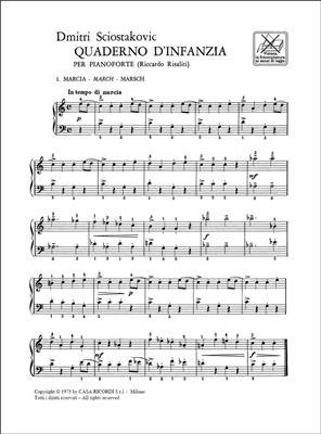 Dimitri Shostakovich: Quaderno D'Infanzia: Piano