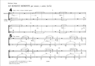G. Arrigo: Lo Schiavo Morente: Vocal