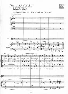 Giacomo Puccini: Requiem Per Coro A 3 Voci Miste, Viola E Organo: Mixed Choir