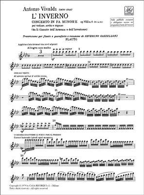 Antonio Vivaldi: Concerto in Fa Minore 'L'Inverno' Rv 297: Flute