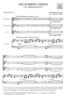 Giacomo Puccini: Madame Butterfly: Coro A Bocca Chiusa: Opera