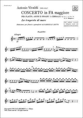 Antonio Vivaldi: Concerto Per Flauto, Archi e BC: Flute
