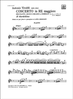 Antonio Vivaldi: Concerto in re maggiore 'Il Gardellino' Rv 428: Flute